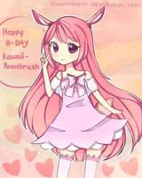 Happy B-Day Kawaii-Paintbrush by kiwiomnom