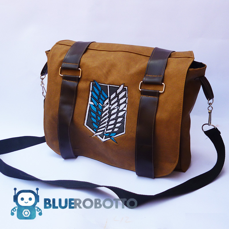 attack on titan messenger bag by bluerobotto on deviantart