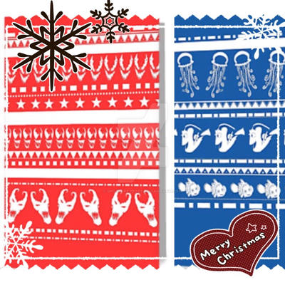 Christmas jumper style Christmas cards by spot1the2dog3