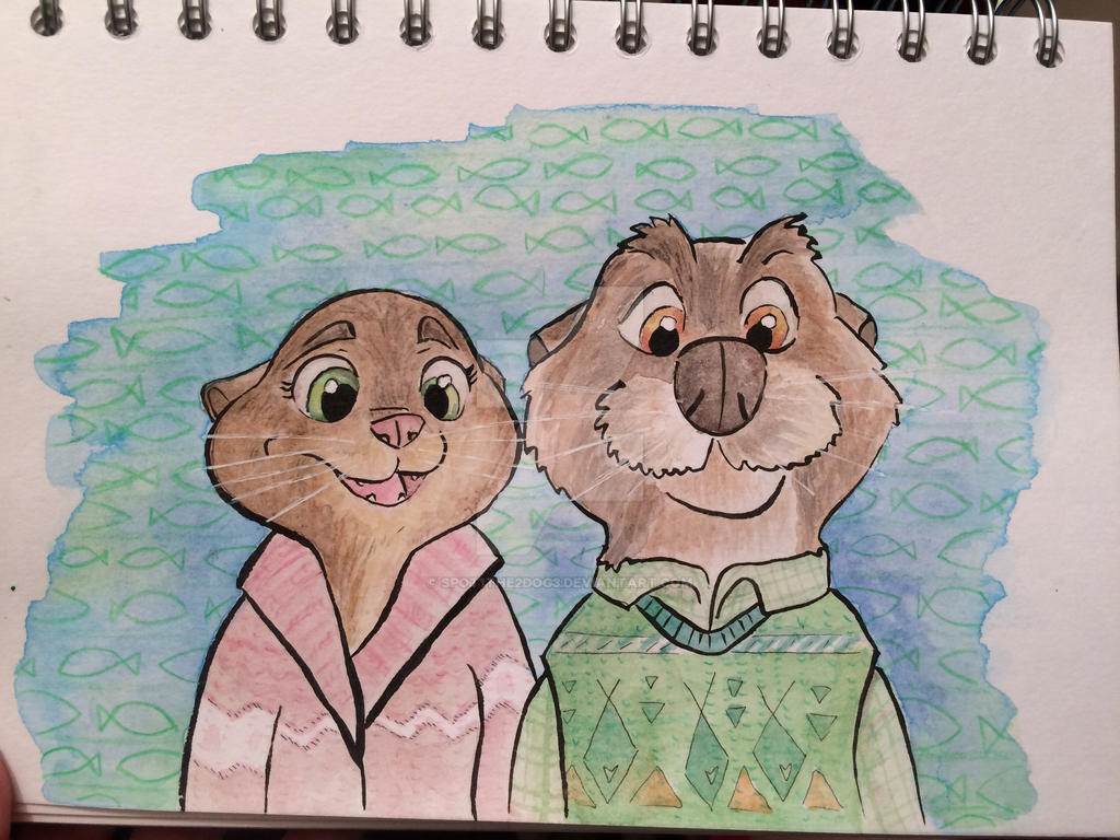 Mr and Mrs Otterton by spot1the2dog3