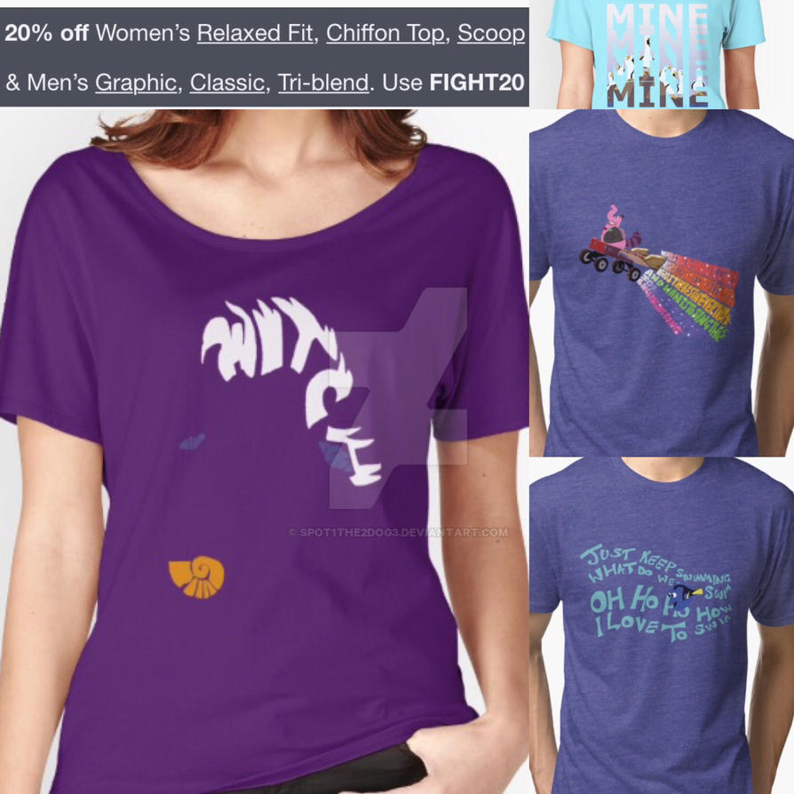 20% off tees by spot1the2dog3