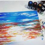 Sunset Acrylic paint