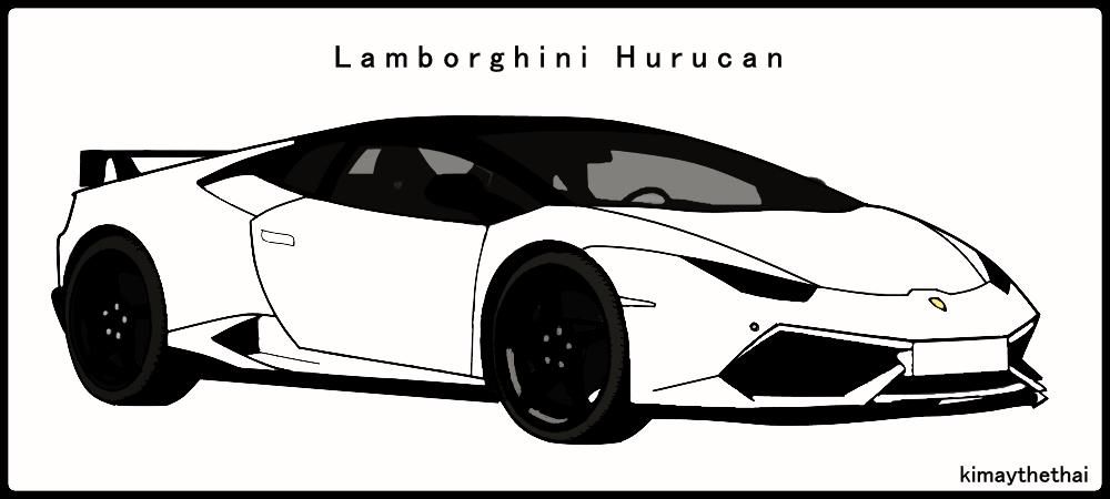 Lamborghini Hurucan Vector Illustration By Kimpea On Deviantart