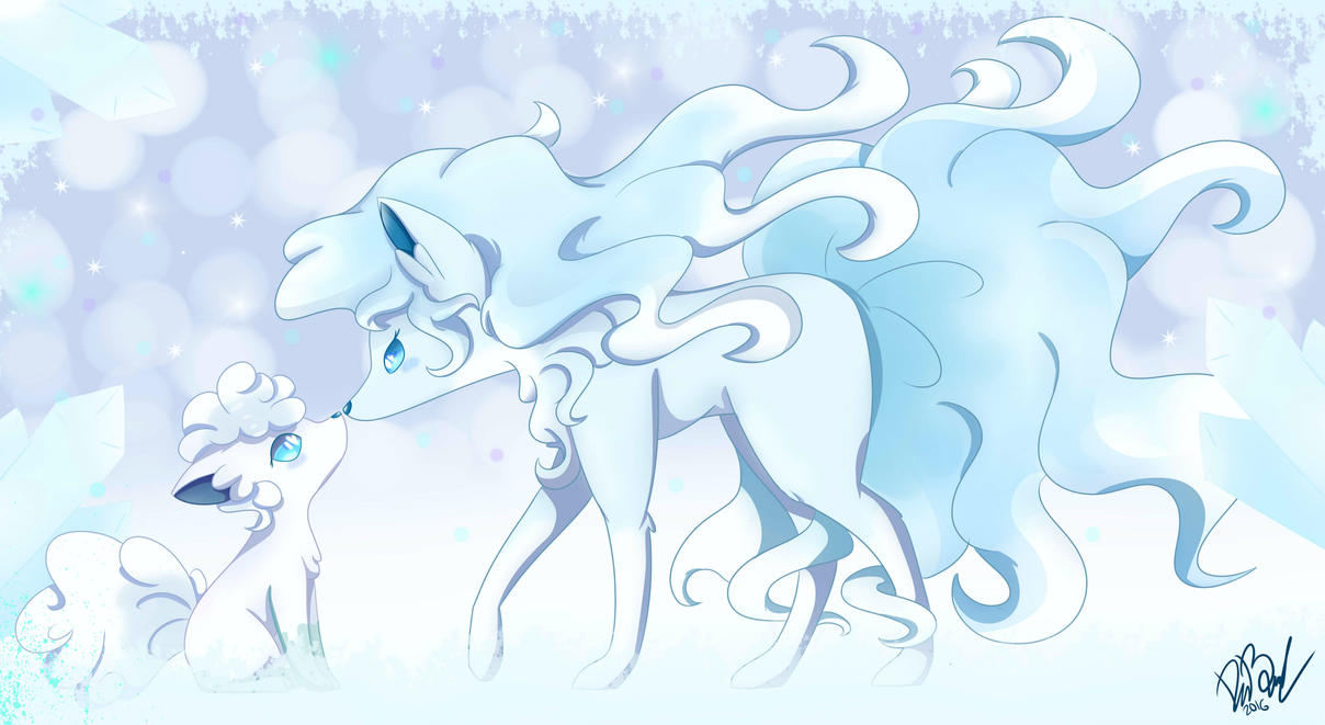 Ninetales and vulpix Alola form by Vale28ART on DeviantArt