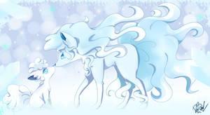 Ninetales and vulpix Alola form