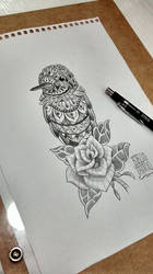 Ornate Brazilian Hummingbird. Inspired by Bioworkz by EdilsonR74