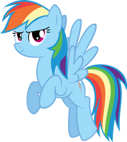 Rainbow Dash Vector by AlmostFictional