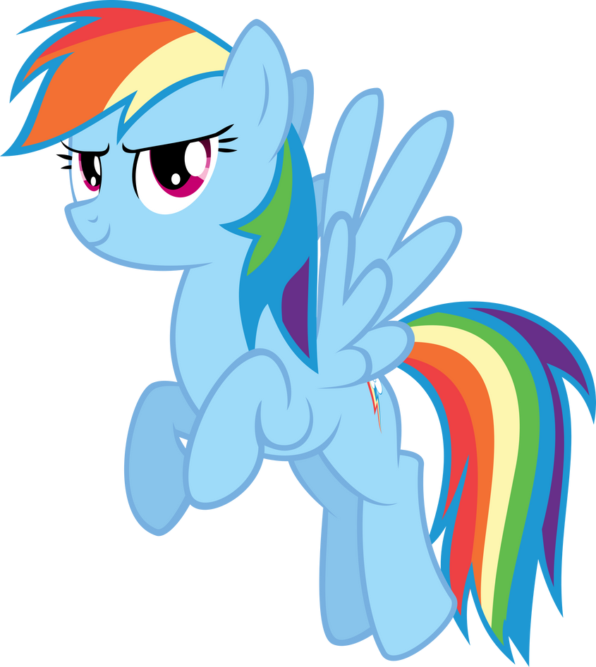 Rainbow Dash Vector by AlmostFictional