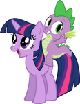 Spike and Twilight Vector