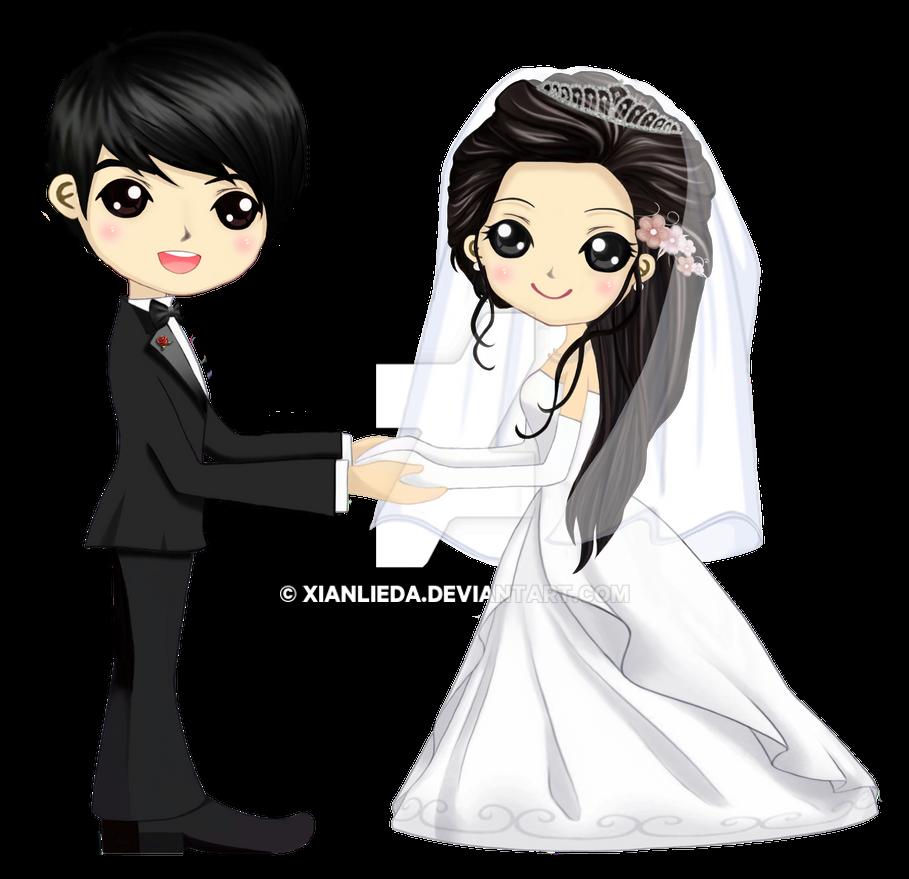 Wedding Couple Clipart Png: MonMon's Wedding Chibi By XianLiEDA On DeviantArt