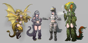 godzilla girls by urasato