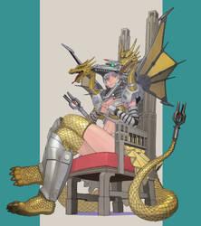 Mecha-King Ghidorah by urasato