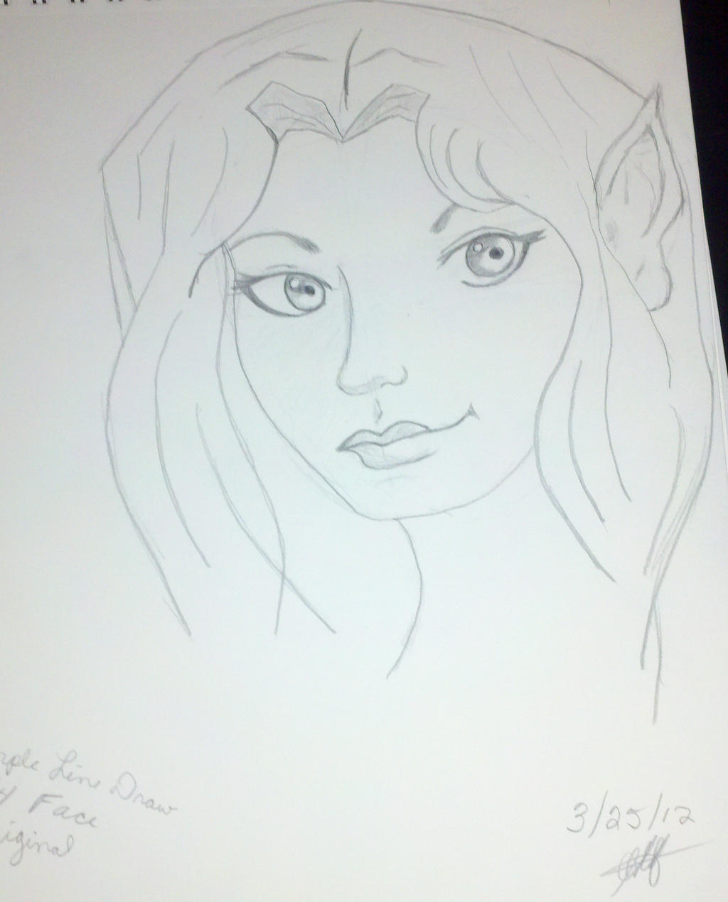 simple line drawing 3 4 fairy face by ghertel on deviantart