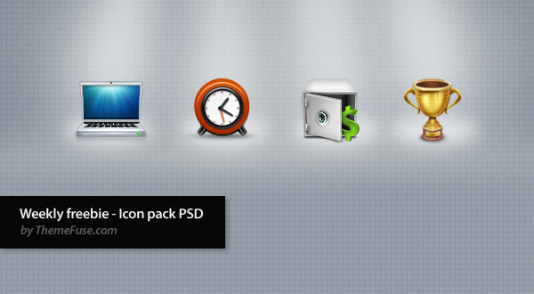 Weekly freebie - Icon pack PSD by ThemeFuse