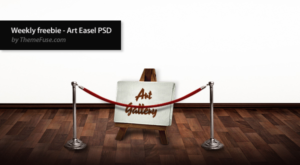 Weekly freebie - Art Easel PSD by ThemeFuse