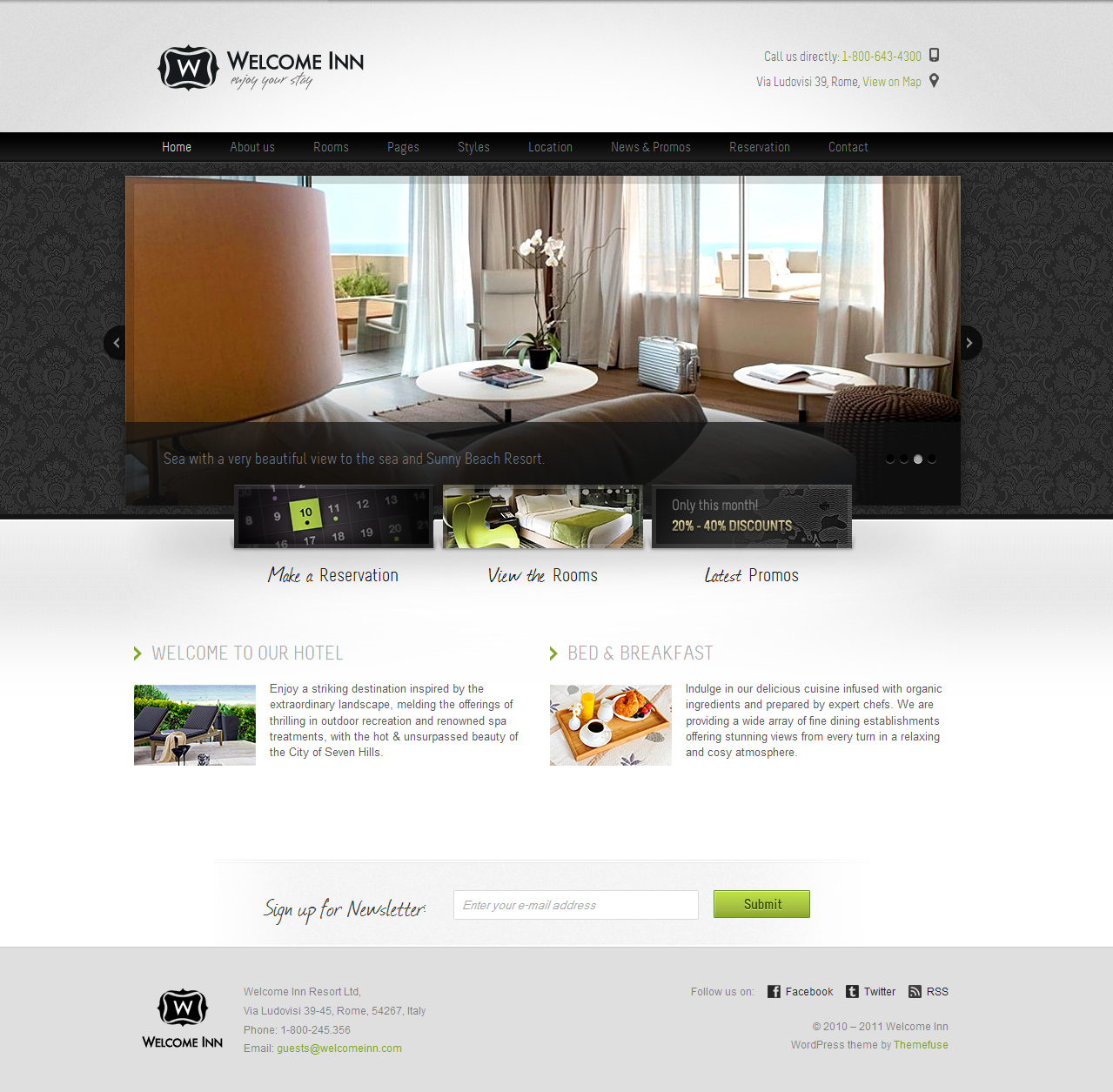 Welcome Inn - Hotel WP Theme by ThemeFuse