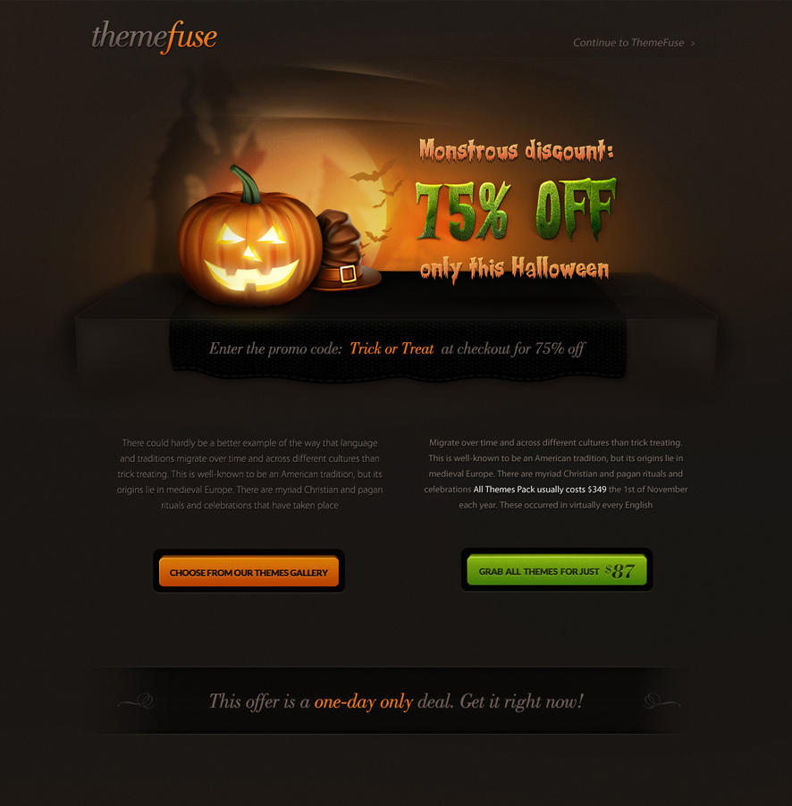 ThemeFuse Halloween Treat by ThemeFuse