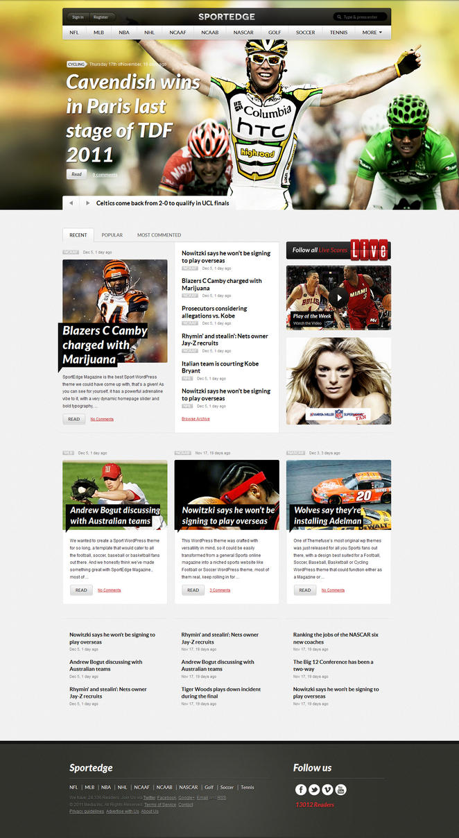 Sportedge WordPress Theme by ThemeFuse