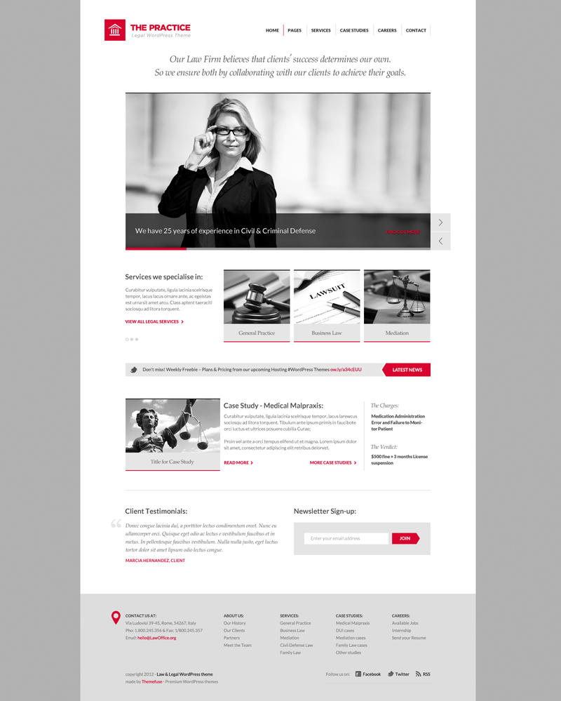 The Practice - Lawyer WordPress theme by ThemeFuse
