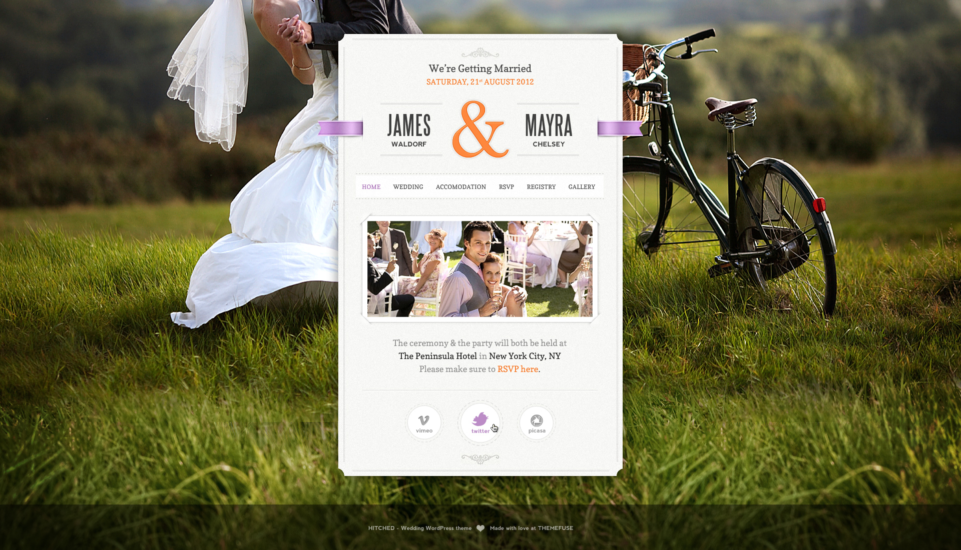 Just Married - Wedding Wordpress theme by ThemeFuse