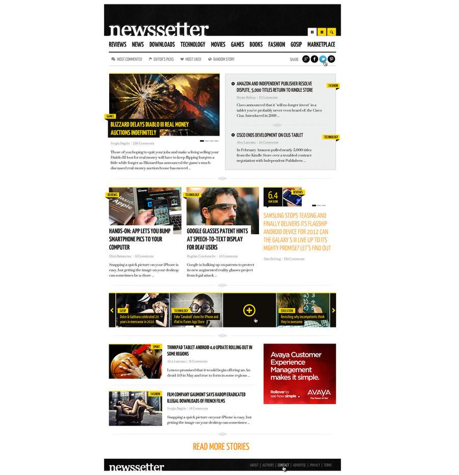 NewsSetter - Magazine WordPress theme by ThemeFuse