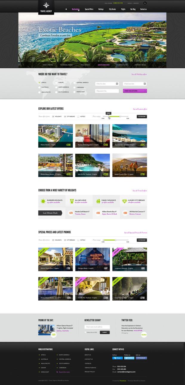 Voyage Travel WordPress theme by ThemeFuse