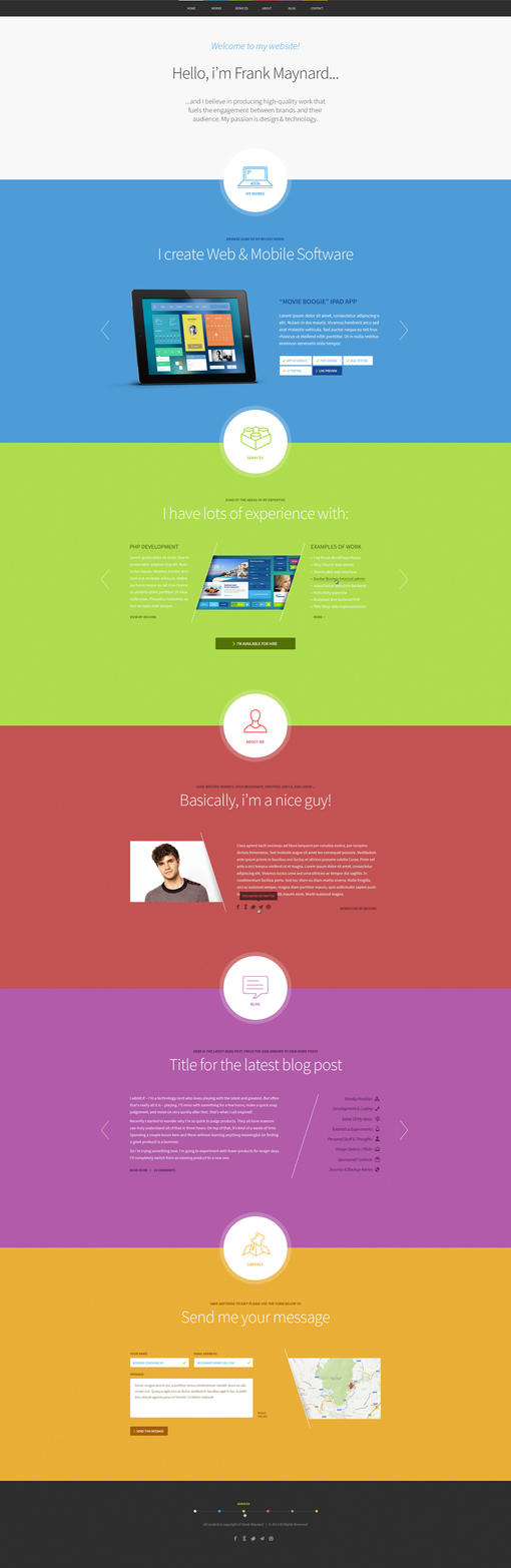 Freelancer OnePage Wordpress theme by ThemeFuse