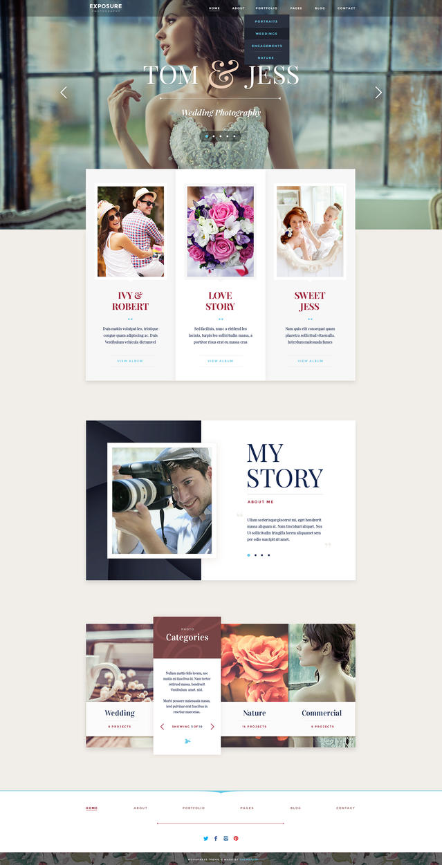 EXPOSURE Photography WordPress theme by ThemeFuse