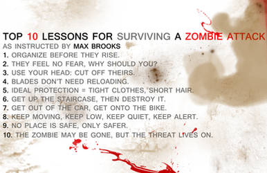 Survive a Zombie Attack by ChristinasHighJinks