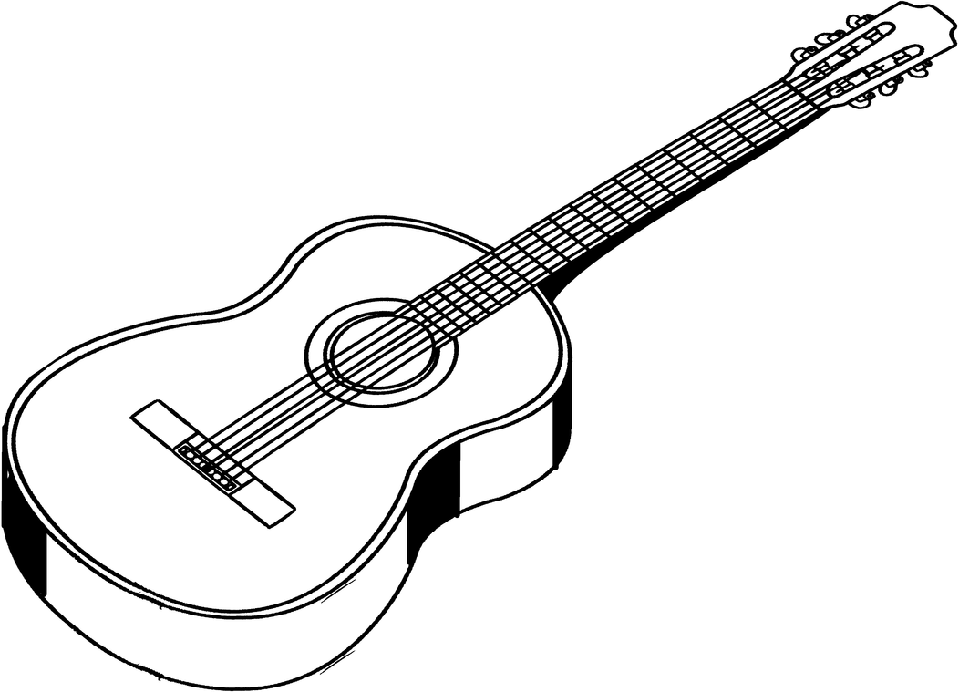 Dovetail template printable guitar - Acoustic Guitar Sketch Acoustic Guitar Clip Art Logos Moreover Line_art_of_an_acoustic_guitar_by_ihcoyc