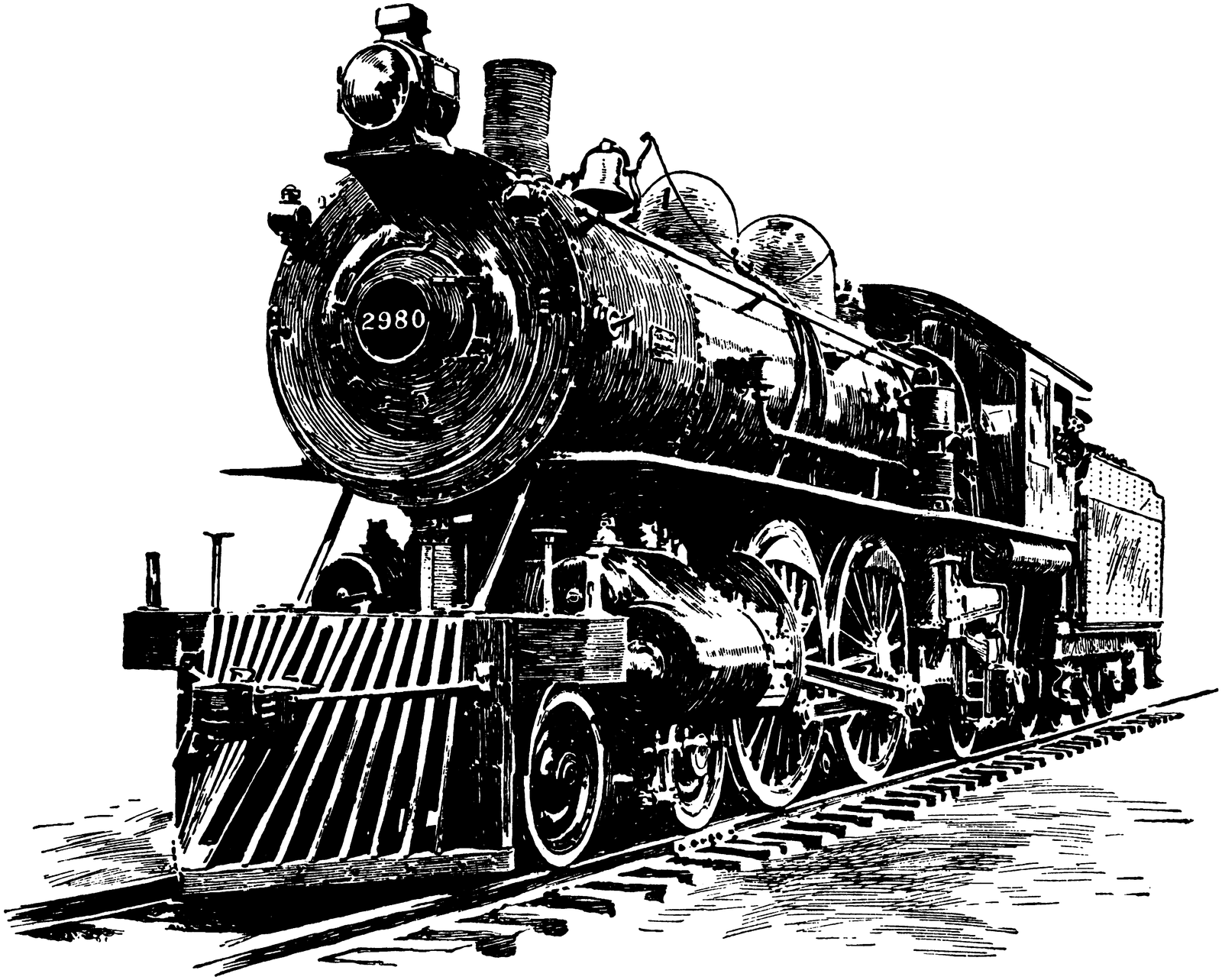 Line Art Train : Steampunk steam locomotive line art stock by ihcoyc on