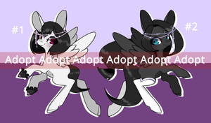 ADOPTABLE TWINS PONY [OPEN] by BloodDollMary