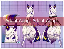 Adoptable Auction: Night Kitsune [OPEN] by BloodDollMary