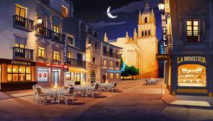 Hihola. Salamanca at night