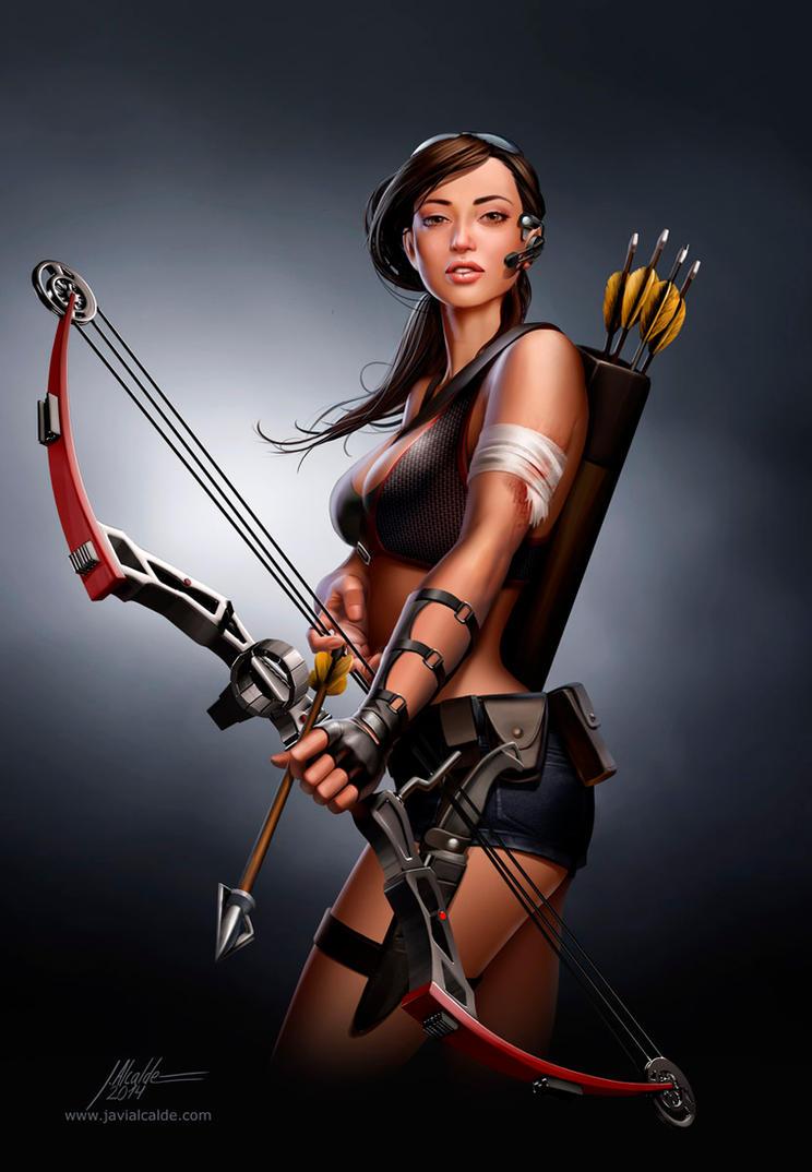 Jurassic Hunter: Archer Girl 01 by javieralcalde