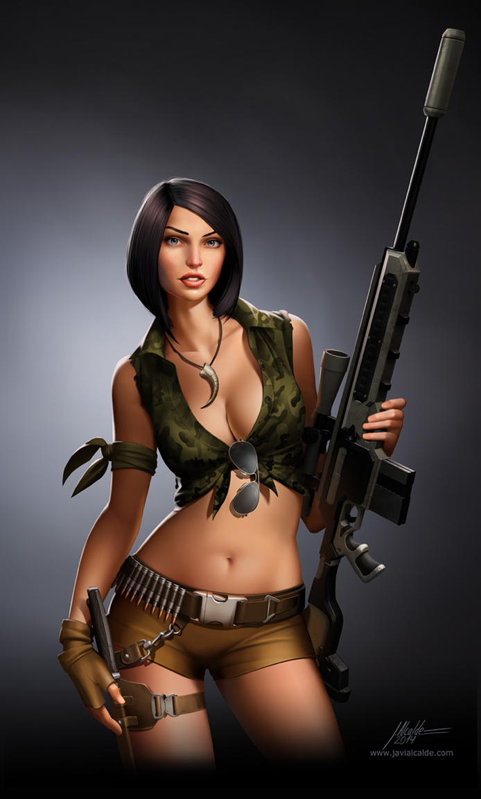 jurassuc_hunter__sniper_girl_by_javieral