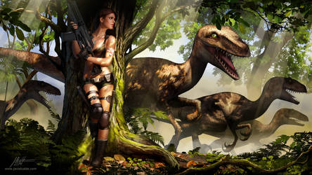 Jurassic Hunter. Splash Screen. by javieralcalde
