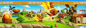 Dragon City. Illustration for App Store. by javieralcalde