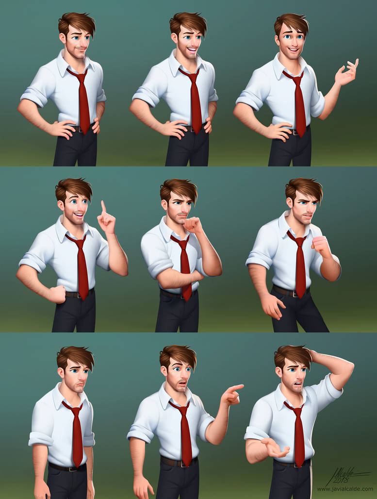 Character Jack expressions by javieralcalde
