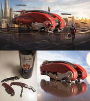 Corkscrew Spaceship