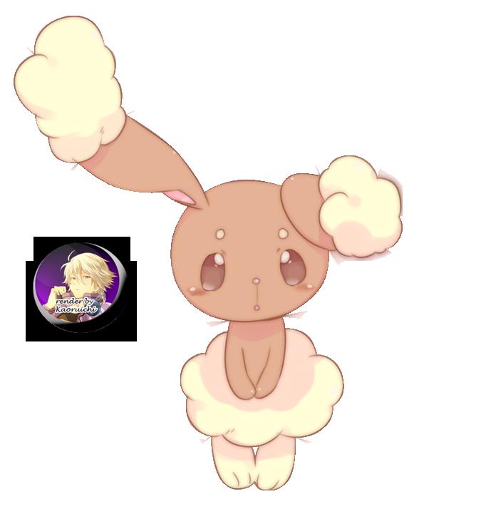 Renders Pokémon & Vocaloid Pokemon_buneary_render_by_kouruichi-d4qa12z