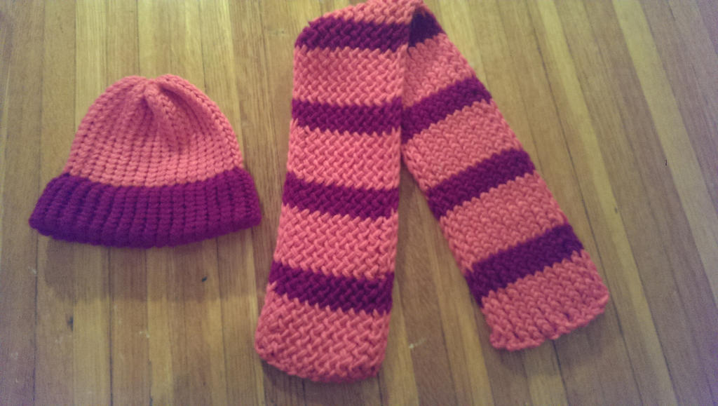 Loom Knit Hat And Scarf Girls By Wykked As Syn On Deviantart