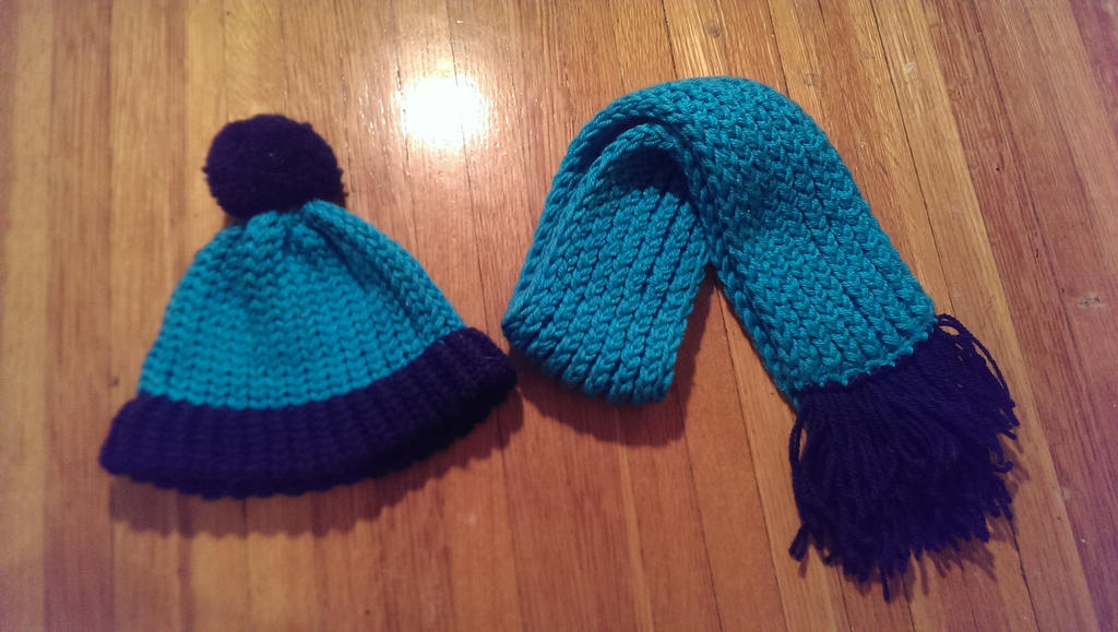 Knitting Pattern For Toddler Hat And Scarf : Loom-knit Hat and Scarf - Toddler by Wykked-As-Syn on ...