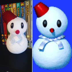 Frappe Snowland Snowman Amigurumi by Wykked-As-Syn