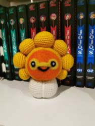 Sunny Castform (crochet statue/amigurumi)