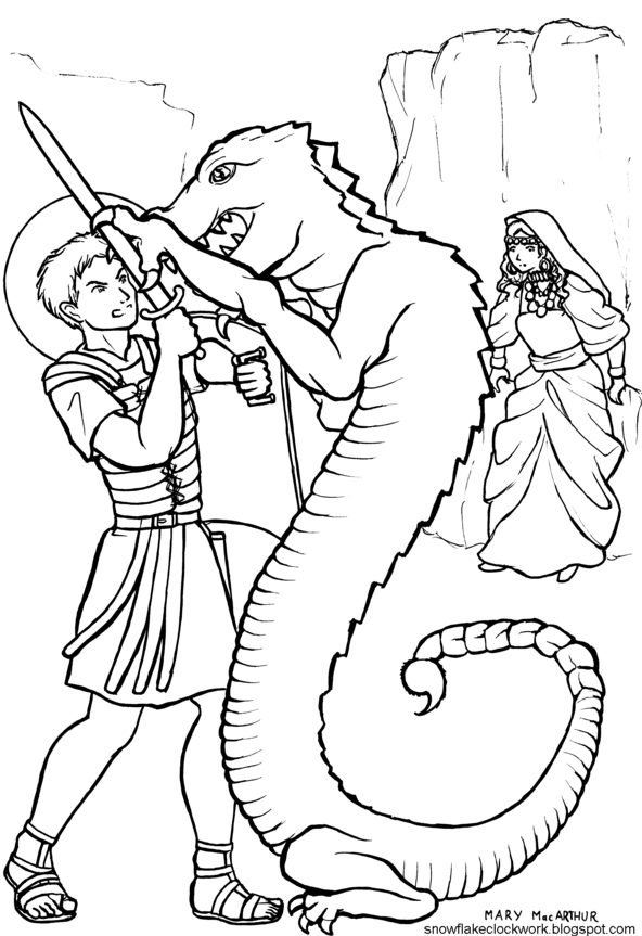 St George Coloring Page By FireFiriel