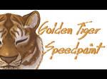 Golden Tiger Speedpaint by Clankerss