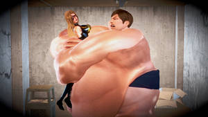 The Blob crushes Ms Marvel with a Bearhug