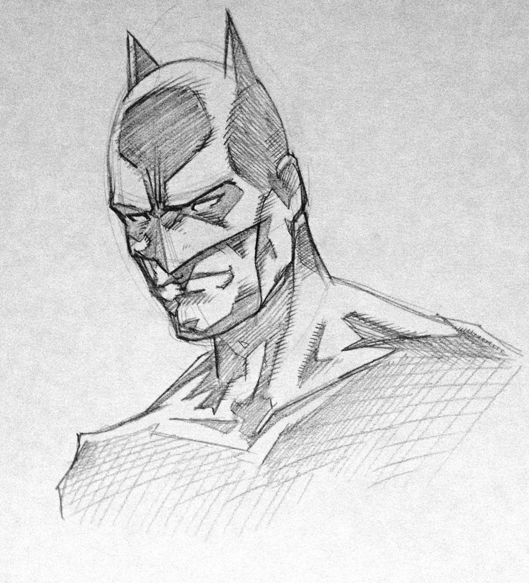 Batman Pencil Sketch by Hopeslast on DeviantArt Batman Drawing In Pencil Easy