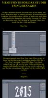 Creating Mesh Fonts for DAZ in Hexagon